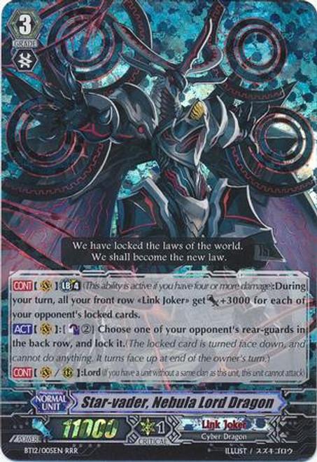 Cardfight Vanguard Binding Force of the Black Rings RRR Rare Star-vader, Nebula Lord Dragon BT12/005