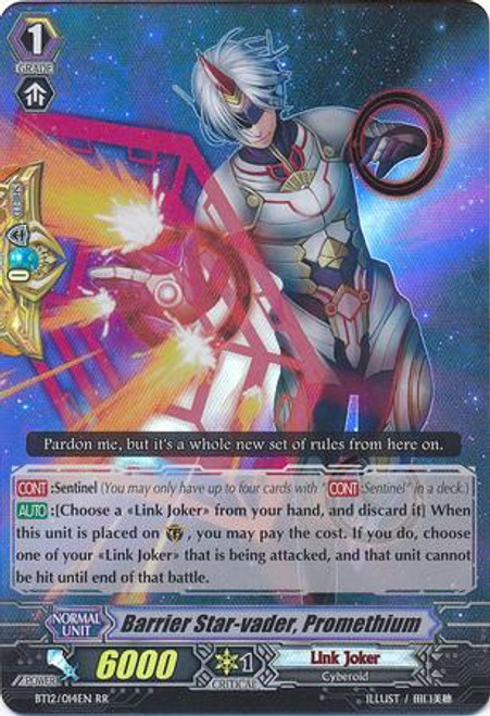 Cardfight Vanguard Binding Force of the Black Rings RR Rare Barrier Star-vader, Promethium BT12/014