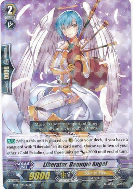 Cardfight Vanguard Binding Force of the Black Rings Rare Liberator, Bagpipe Angel BT12/024