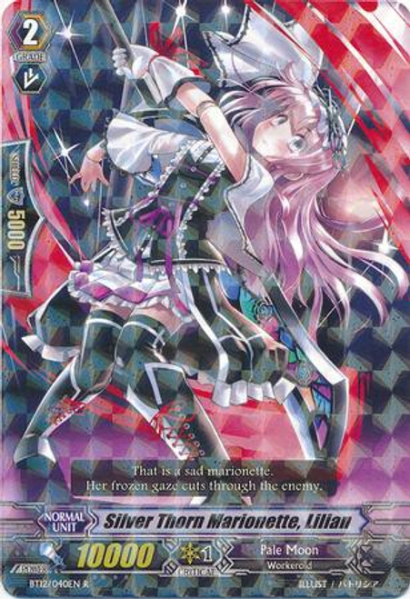 Cardfight Vanguard Binding Force of the Black Rings Rare Silver Thorn Marionette, Lillian BT12/040