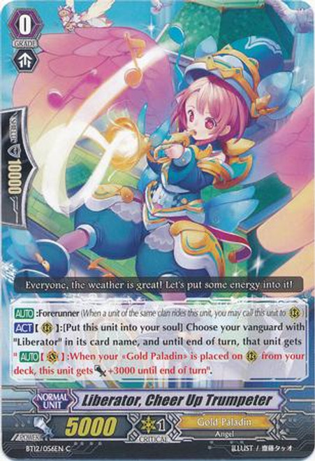 Cardfight Vanguard Binding Force of the Black Rings Common Liberator, Cheer Up Trumpeter BT12/056