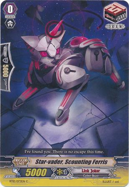 Cardfight Vanguard Binding Force of the Black Rings Common Star-vader, Scouting Ferris BT12/073