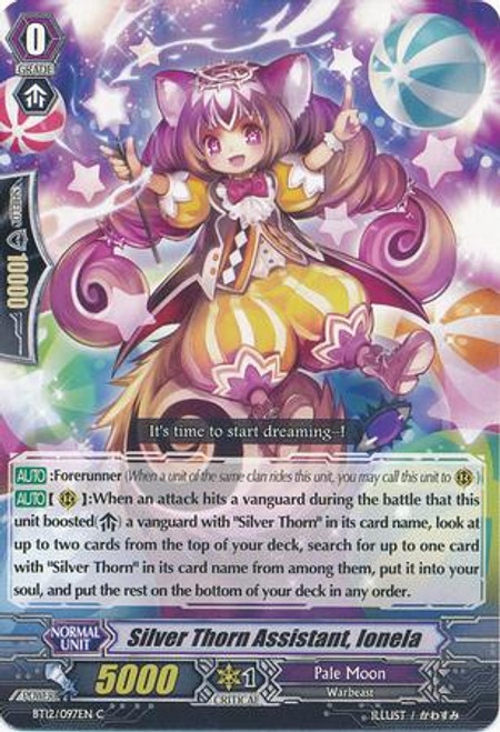 Cardfight Vanguard Binding Force of the Black Rings Common Silver Thorn Assistant, Ionela BT12/097