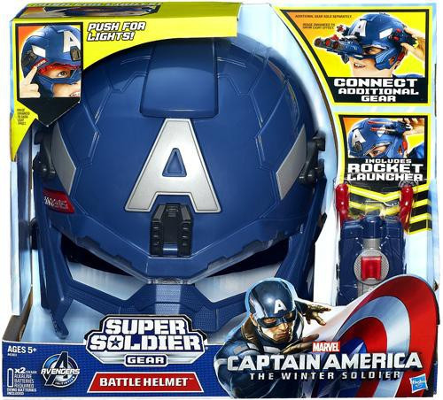 Captain America The Winter Soldier Super Soldier Gear Battle Helmet 7-Inch