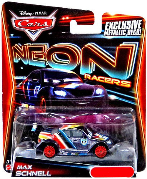 Disney Cars Neon Racers Max Schnell Exclusive Diecast Car [Metallic Deco]