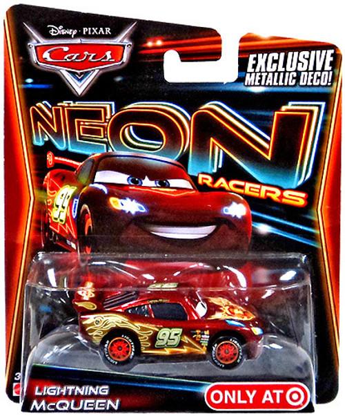 Disney Cars Neon Racers Lightning McQueen Exclusive Diecast Car [Metallic Deco]