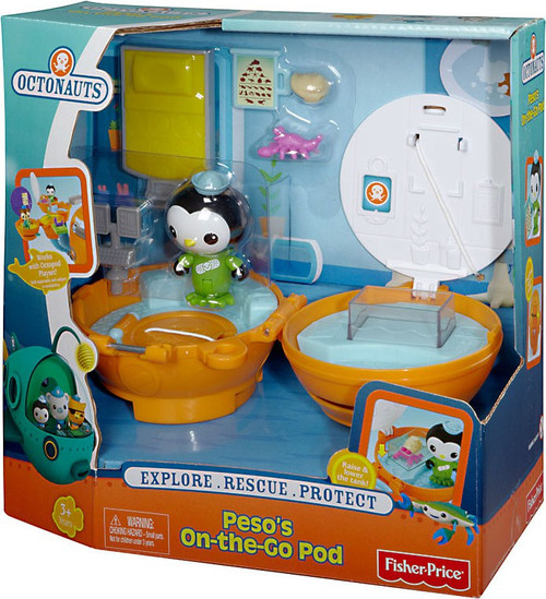Fisher Price Octonauts Mission Vehicle Peso's On-the-Go Pod Playset