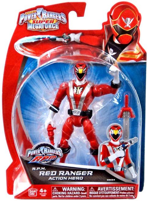 Power Rangers Super Megaforce RPM Red Ranger Action Hero Action Figure