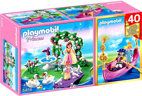 Playmobil Fairies 40th Anniversary Princess Island Compact Set + Romantic Gondola Set #5456