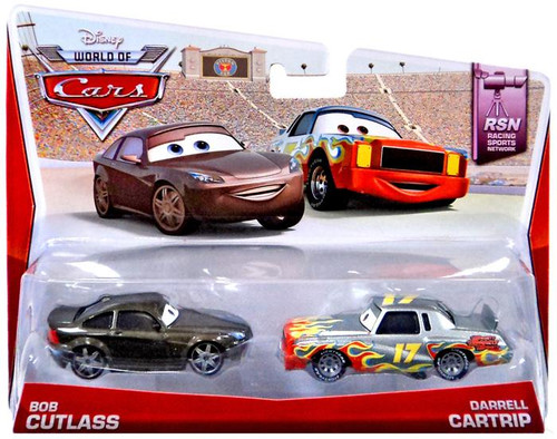 Disney Cars The World of Cars Bob Cutlass & Darrell Cartrip Diecast Car 2-Pack