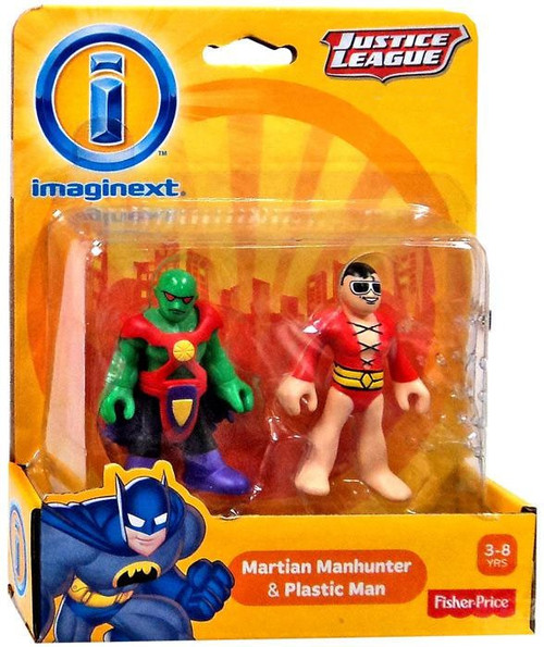 Fisher Price DC Super Friends Justice League Imaginext Martian Manhunter & Plastic Man Exclusive 3-Inch Mini Figures