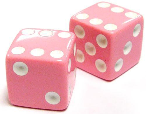 My Little Pony Monopoloy Parts Pair of Pink Dice 1 1/2-Inch [Loose]