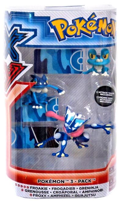 Pokemon XY Froakie, Frogadier & Greninja Figure 3-Pack