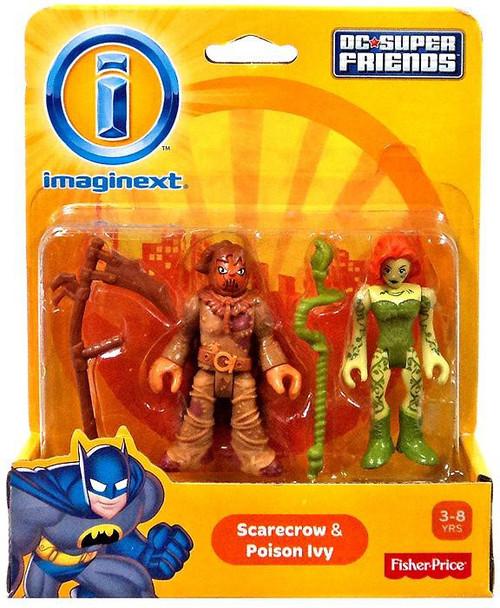 Fisher Price DC Super Friends Batman Imaginext Scarecrow & Poison Ivy 3-Inch Mini Figures