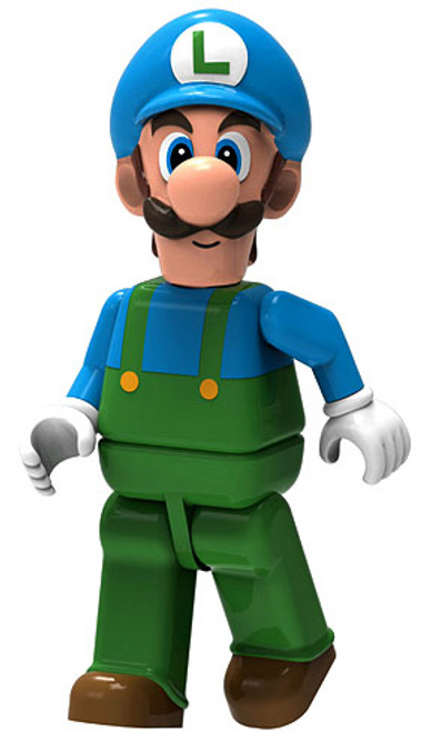 K'NEX Super Mario Series 3 Ice Luigi 2-Inch Minifigure [Loose]
