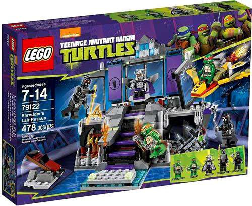 LEGO Teenage Mutant Ninja Turtles Nickelodeon Shredder's Lair Rescue Set #79122