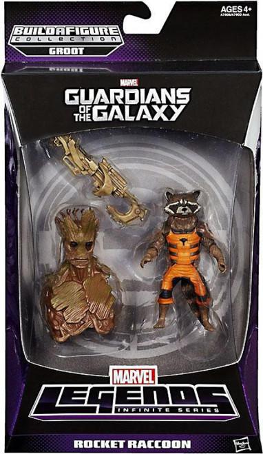 Guardians of the Galaxy Marvel Legends Infinite Series Groot Rocket Raccoon Action Figure