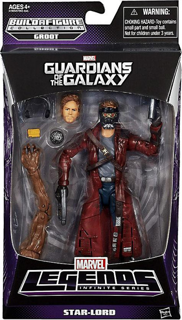 Guardians of the Galaxy Marvel Legends Infinite Series Groot Star-Lord Action Figure