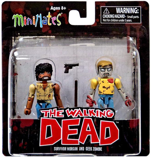 The Walking Dead Minimates Series 5 Survivor Morgan & Geek Zombie Minifigure 2-Pack
