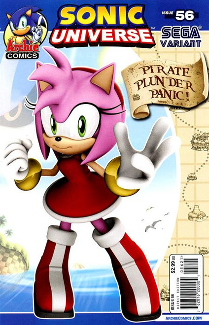 Sonic The Hedgehog Sonic Universe Pirate Plunder Panic Comic Book #56 [Part 2 of 4, Variant Edition]