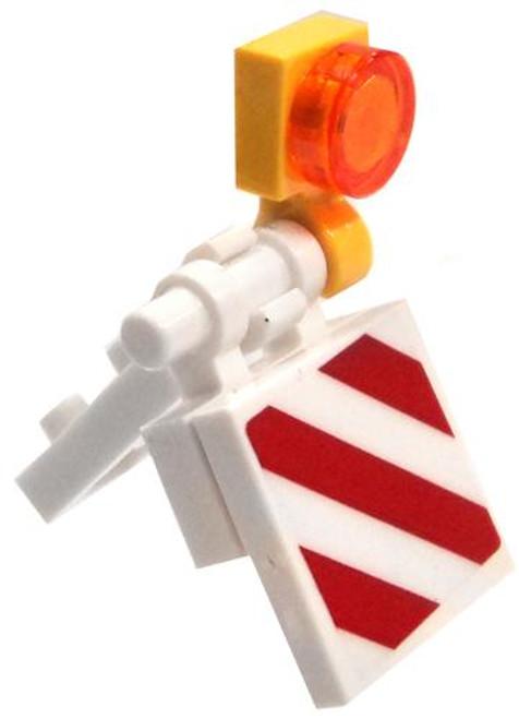 LEGO White Small Construction Barricade [Loose]