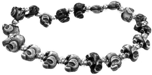 Elephantz Black Elephants Bracelet