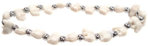 Elephantz White Elephants Bracelet