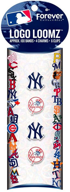 MLB Logo Loomz New York Yankees Rubber Bands Refill Pack [100 ct]