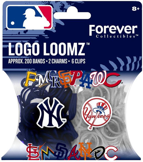 MLB Logo Loomz New York Yankees Pack Rubber Bands Refill Pack [200 ct]