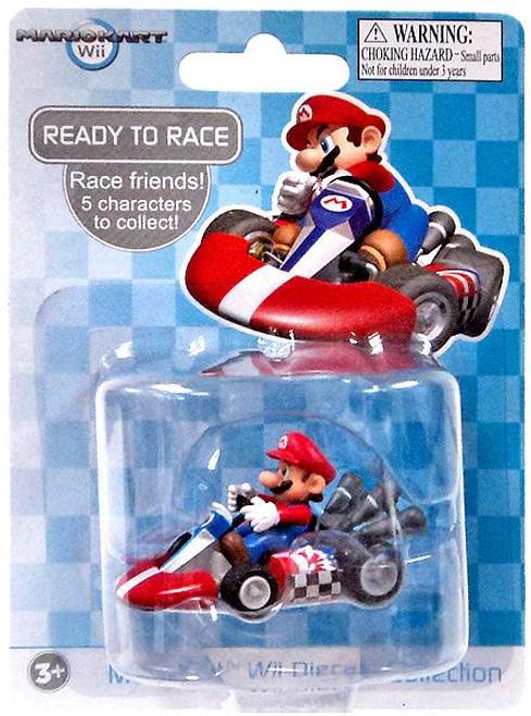 Super Mario Mario Kart Wii Diecast Collection Mario 2-Inch Diecast Vehicle