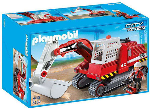 Playmobil City Action Construction Excavator Set #5282