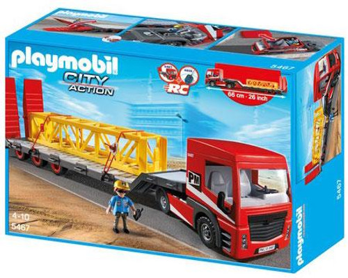 Playmobil City Action Heavy Duty Flatbed Trailer Set #5467