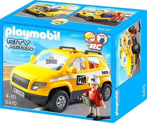 Playmobil City Action Site Supervisor's Vehicle Set #5470