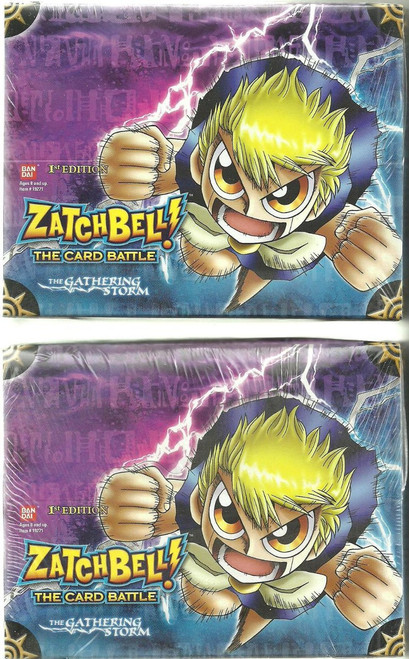 Zatch Bell The Card Battle The Gathering Storm Booster Box