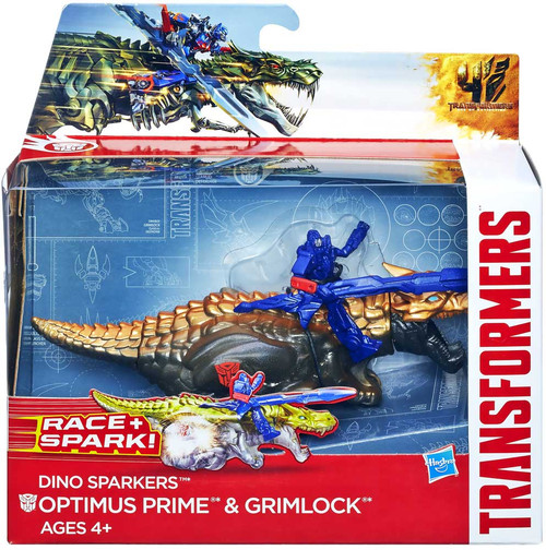 Transformers Age of Extinction Dino Sparkers Optimus Prime & Grimlock Action Figure