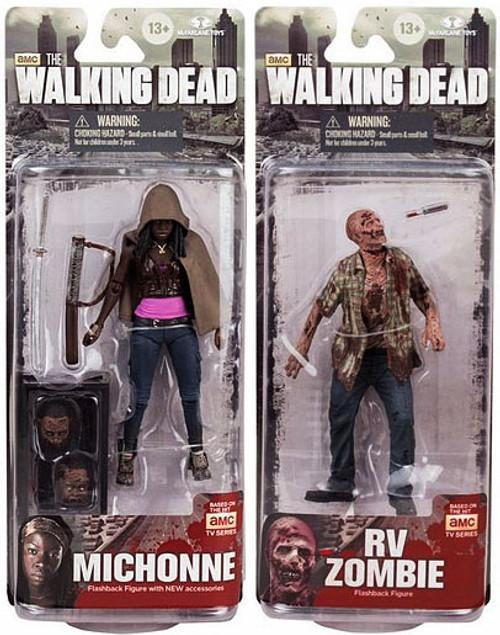 McFarlane Toys Walking Dead AMC TV TV Series 6 Set of 2 Action Figures [Michonne & RV]