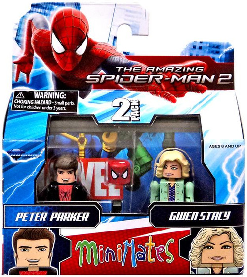 The Amazing Spider-Man 2 Minimates Series 56 Spider-Man & Gwen Stacy Minifigure 2-Pack