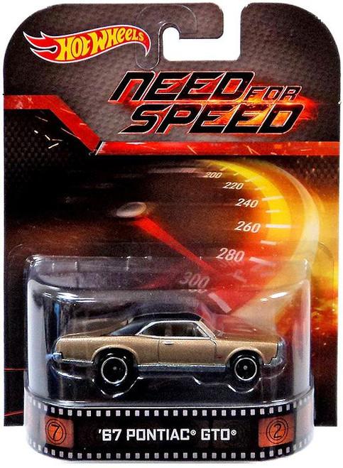 Need for Speed Hot Wheels Retro '67 Pontiac GTO Diecast Vehicle