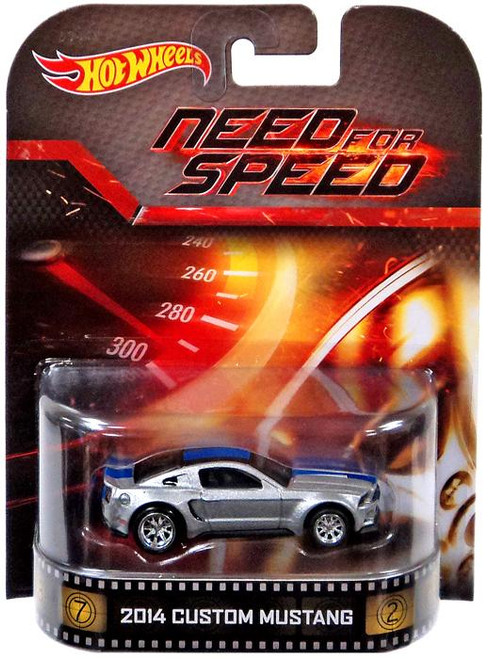 Need for Speed Hot Wheels Retro 2014 Custom Mustang Diecast Vehicle