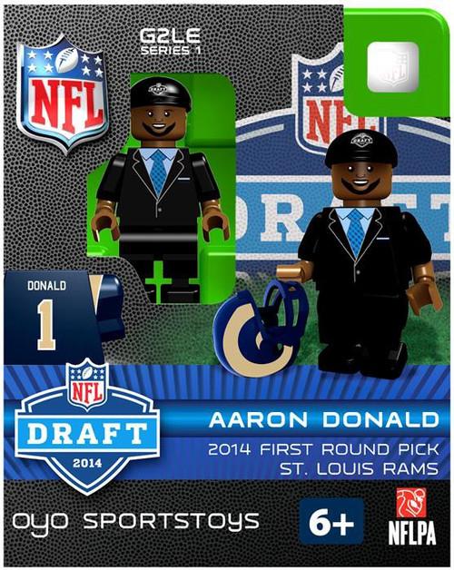 St. Louis Rams NFL 2014 Draft First Round Picks Aaron Donald Minifigure