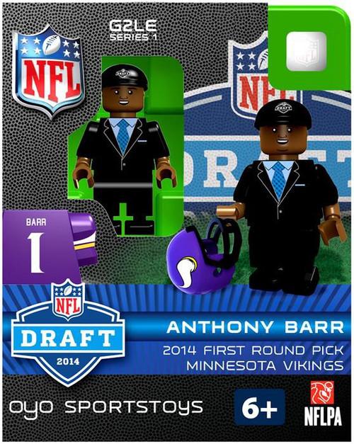 Minnesota Vikings NFL 2014 Draft First Round Picks Anthony Barr Minifigure
