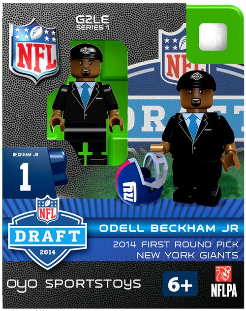 New York Giants NFL 2014 Draft First Round Picks Odell Beckham Jr. Minifigure