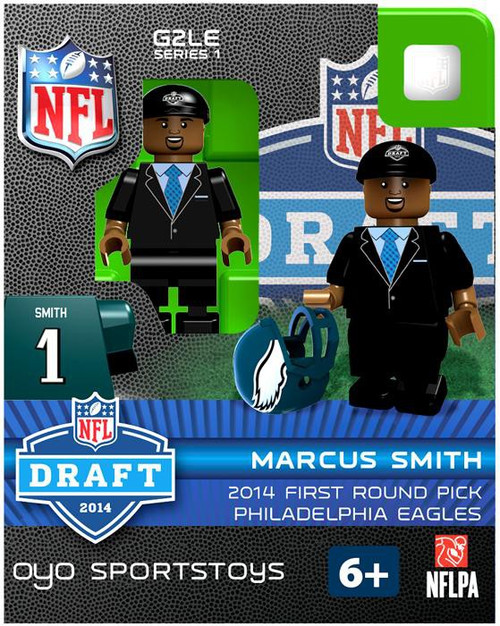 Philadelphia Eagles NFL 2014 Draft First Round Picks Marcus Smith Minifigure
