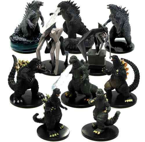 Movie Miniature Complete Set of 10 Godzilla PVC Figures [Loose]