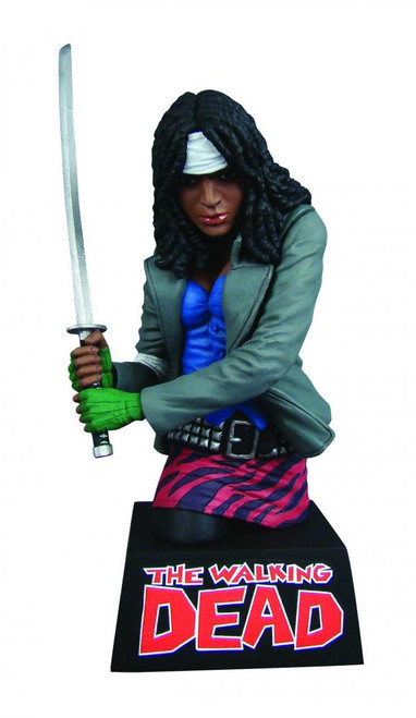 Walking Dead Comic Vinyl Bank Michonne 8-Inch Bust