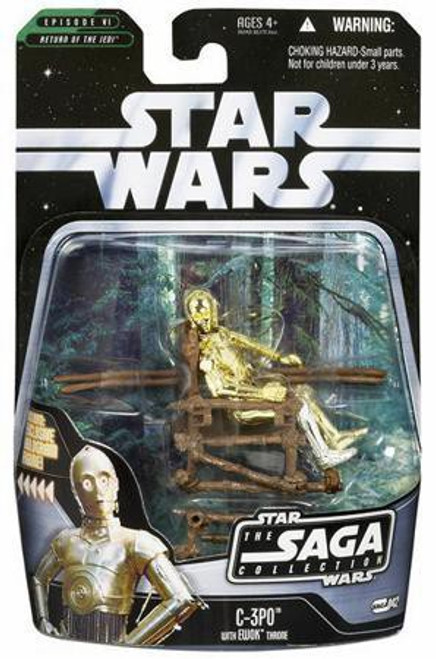 Star Wars Return of the Jedi Saga Collection 2006 C-3PO Action Figure #42 [With Ewok Throne]
