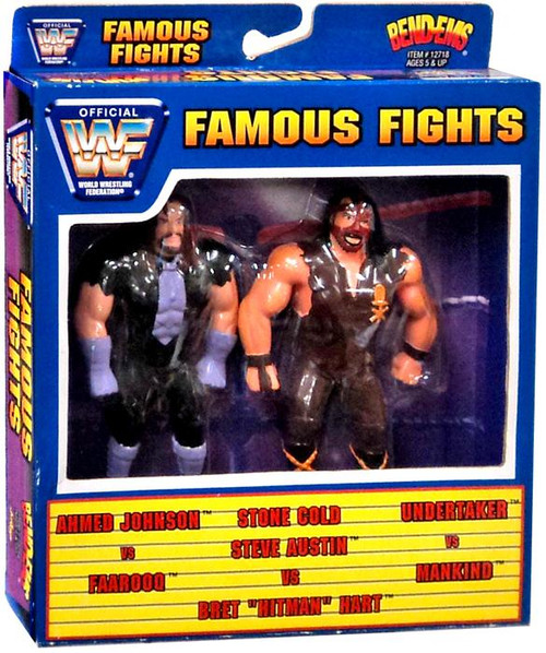 WWE Wrestling WWF Famouse Fights Bend-Ems Undertaker Vs Mankind Action Figure