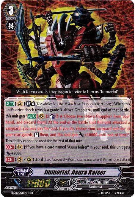 Cardfight Vanguard Champions of the Cosmos RRR Rare Immortal, Asura Kaiser EB08/001
