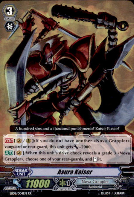 Cardfight Vanguard Champions of the Cosmos RR Rare Asura Kaiser EB08/004
