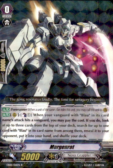 Cardfight Vanguard Champions of the Cosmos Rare Morgenrot EB08/016